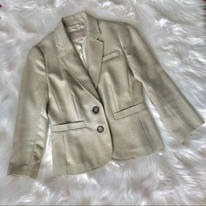 🚚 EUC BANANA REPUBLIC Women's BLAZER JACKET Beige